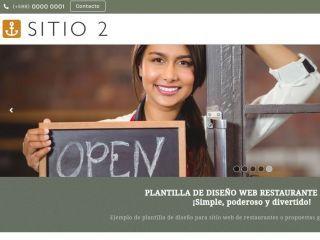 RESTAURANT 2 . Web design template for restaurants