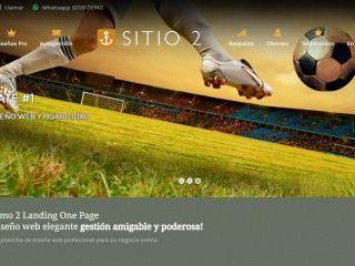 Demostración de diseño web landing one page. - LANDING 2, Template de diseño web landing page