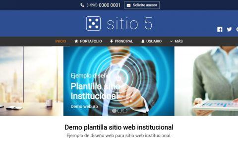 Template de diseño web para sitio institucional.